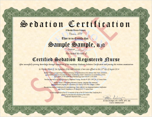 Moderate Sedation Certificate