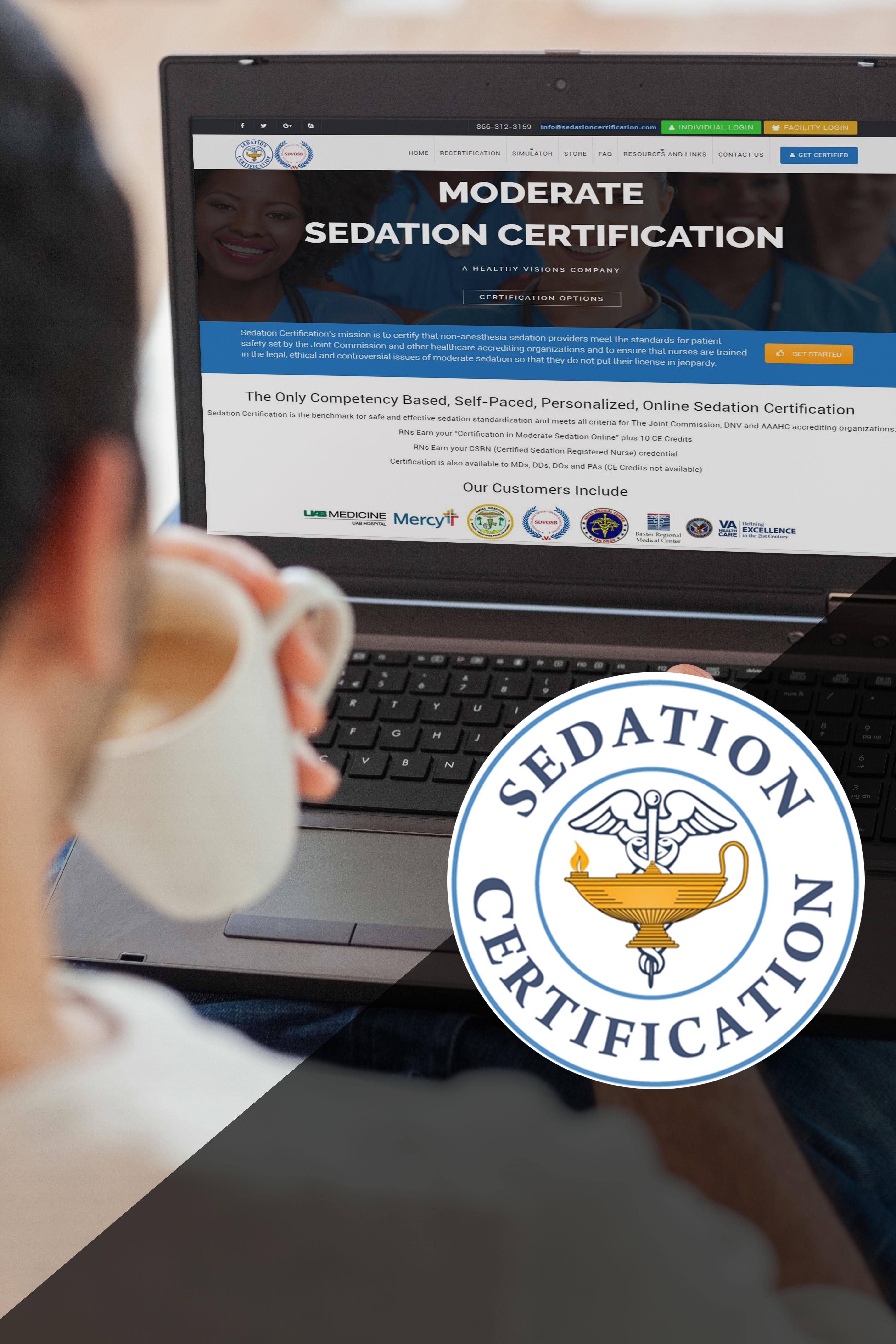 clickable map sedation certification